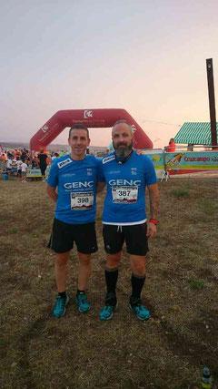 De izq. a der. Manuel Zamorano y Juan Valera.