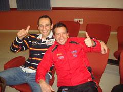 Rafael Carmona, a la derecha de la imagen.