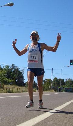Er trabuco escalador, Media maratón Sierra de Córdoba.