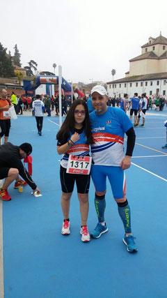 Antonio y Ángela Carretero, en los momentos previos a la prueba.