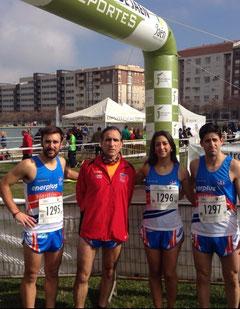 De izq. a  der. David Osuna, Jaime Astals, María del Mar Osuna y José Reyes.