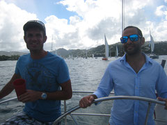Leaving Castries Harbour