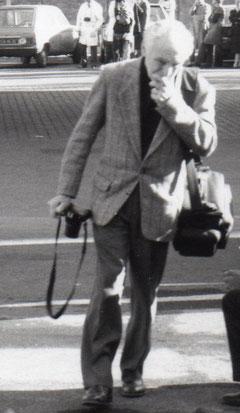 Photographie Maurice Bonnel lors de l'incendie de la SNR le 15 octobre 1989