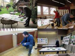 Vorbereitung Ausstellung Fotos K-H Kuhn