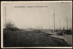"Carte postale : la gabarre ""Ida- Inès"" dans le Port."