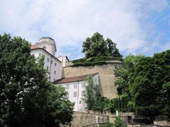 Veste Oberhaus, Blick auf die Befestigungen und den Observationsturm