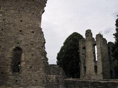 Krukenburg, Blick von der Kirche auf die Wohngebäude