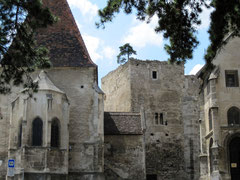 Martinikirche, Ruinen der Herzogsburg und Pfarrkirche