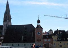 Brückenturm und Salzstadel, Regensburg