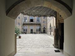 Schloss Detmold, Innenhof mit Blick auf den Westflügel