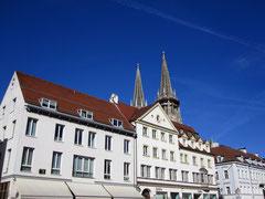 Neupfarrplatz mit Blick auf den Dom, Regensburg