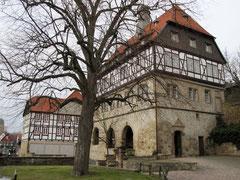 Rathaus zwischen den Städten von der Altstadtseite aus gesehen, Warburg