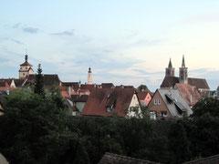 Rothenburg o.d. T., Altstadt mit Weißem Turm, Rathaus und Jakobskirche