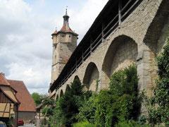 Rothenburg o.d. T., Wehrgang und Klingentor