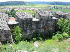 Burg Lupburg, Mauerreste der Kernburg