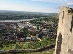 Blick auf Hainburg an der Donau