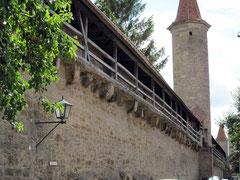 Rothenburg o.d. T., Türme der Ummauerung des Kappenzipfels