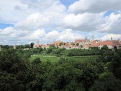 Rothenburg o.d. T., Blick vom Kappenzipfel auf die Altstadt