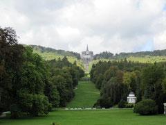 Bergpark Wilhelmshöhe, Blick vom Schloss Wilhelmshöhe auf den Herkules