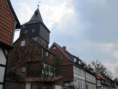 Kehrwiederturm und Fachwerkhäuser, Hildesheim