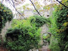 Burg Rauheneck, innerer Burghof mit Resten des Palas