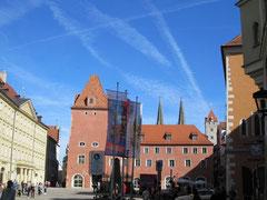 Haidplatz mit Neuer Waag, Regensburg