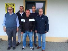 Von links: Karl Heinz Küster, Dirk Eulenbach, Mike Wenger, Thomas Fenner, Albert Böhnisch.