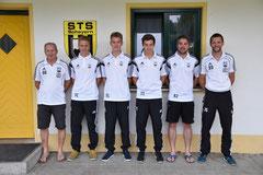 Von links: Christian Trox, Verteidiger; Lukas Euringer, Innenverteidiger; Thomas Thurner, Mittelfeld und Michael Frank, Allrounder im Mittelfeld und Abwehr