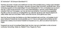Spielbericht Vachendorf