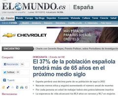 Envejecimiento de la población española.