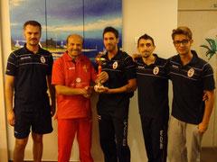 Natoli premia il Catania, vincitore della Profibase Cup