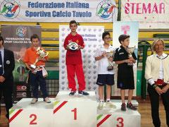 Claudio La Torre sul podio: è Campione d'Italia Under 12