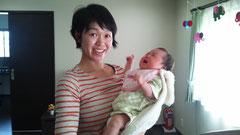 菊乃ちゃんのママ一か月健診