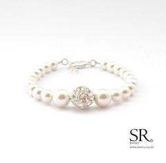 Braut Armbänder Perlen Armband Strassperle edel hochwertig