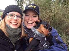 Ein Selfie muss sein: Anja, Claudine, Dali