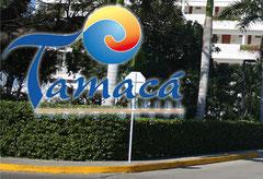 Das Logo des Hotels Tamaca