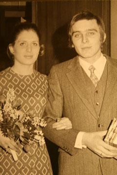 Hochzeit am 19.12.1969 - Ines Kumfert aus der Neuen Vahr Süd und Uli Pelz aus der Neuen Vahr Nord