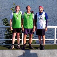 Erster und zweiter Platz bei den westdeutschen Langstreckenmeisterschaften der Senioren: Knut Brieke und Thomas Schnadt vom HKC. Bild: Petra Spenner