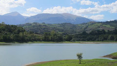 San Ruffino Lake with the Sibillini Mountains in the background