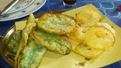 """Frittura del orto (salvia e mele) presso """"La Conca"""""""