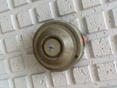青木防災点検時、火災発報中の感知器