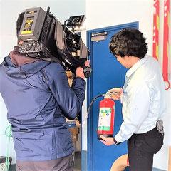 加圧式消火器の危険性についての取材