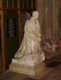 Chantrey's statue of Bishop Ryder in Lichfield Cathedral. Image in the public domain by villafanuk on Wikipedia