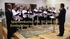 Benefizkonzert zugunsten der Schmetterlingskinder, www.stöttenchor.at, Stötten-Chor, Gampern, Stötten, Bezirk Vöcklabruck