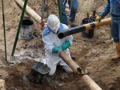 Verbindungsaufbau einer Pipeline für Erdöl in Kolumbien