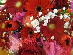 病院コンサートでいただいた花束