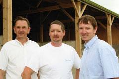 Les 3 associés du GAEC : Jean-Michel, Emmanuel et Jean-Marie