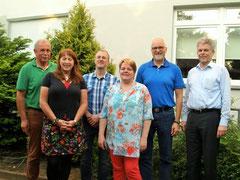 Der Vorstand von Haus Mühlental mit Eggert Eicke, Anja Wedtgrube, Thorsten Schulz, Petra Simonsen, Johann Hansen und Reimer Thießen.