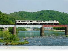 JR津山線八幡鉄橋