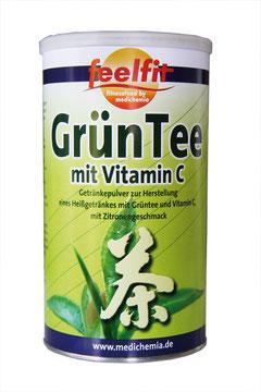 GRÜNTEE-GETRÄNK mit Vitamin C und Zitrone Erfrischungsgetränk Immunsystem Abwehrkräfte